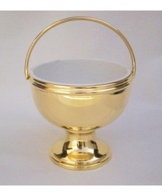 Solid Brass high polish Holy Water Pot
