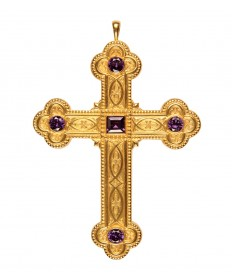Pectoral Cross with Amethysts 4.5""