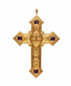 Pectoral Cross with Amethyst 4-3/8""