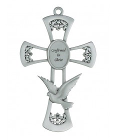 "Confirmation Cross 6"" Pewter"
