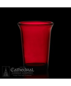 24 Hour Size Ruby Votive glasses