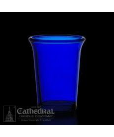 24 Hour size Blue Votive glasses