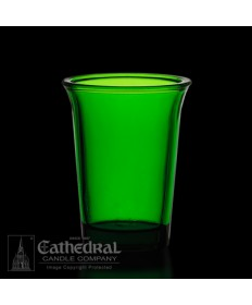24 Hour size Green Votive glasses