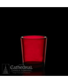 15 Hour size Ruby Votive glasses