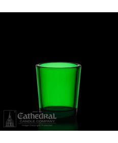 15 Hour size Green Votive glasses