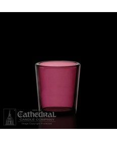 15 Hour size Purple Votive glasses