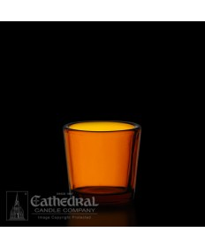 10 Hour size Amber Votive glasses