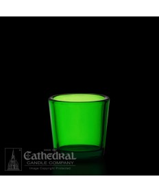 10 Hour size Green Votive glasses