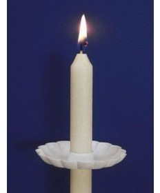 """Drip Protectors - White Plastic for17/32"""" diameter Candles"""