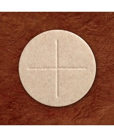 "2-3/4"" Whole Wheat Generic Priest Altar Bread by OCO Co (Box of 50)"