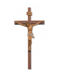 "12"" Walnut Wood Crucifix"