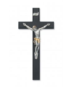 "10"" Black Wood Crucifix"