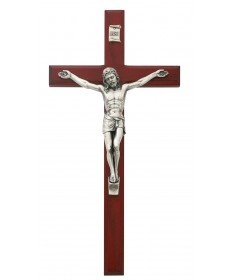 "10"" Cherry Wood Crucifix"