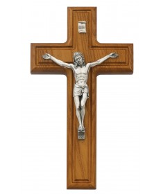 "10"" Walnut Wood Crucifix"