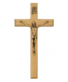"8"" Oak Wood Crucifix"