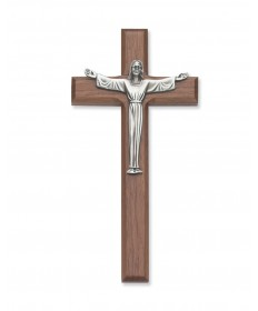 "7"" Walnut Wood Risen Christ Crucifix"