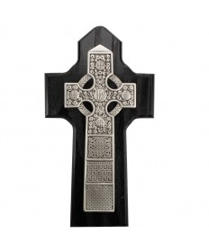 "6.25"" Black Wood Celtic Cross"