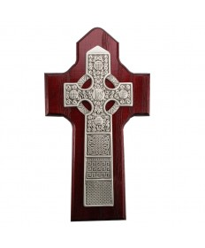 "6.25"" Cherry Wood Celtic Cross"