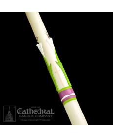 Sculptwax Easter Glory Paschal by Cathedral Candle Co