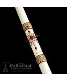 Sculptwax Sacred Heart Paschal by Cathedral Candle Co