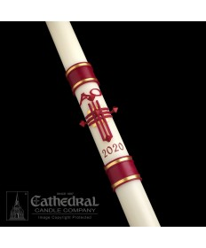 Sculptwax Crux Trinitas Paschal by Cathedral Candle Co