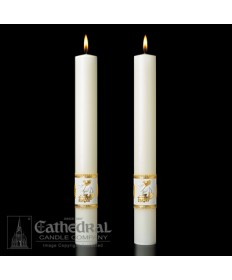 Classic Ornamented Paschal Complementing Altar Candles