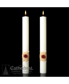 Sculptwax Holy Trinity Paschal Complementing Altar Candles