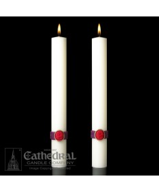 Sculptwax Cross of the Lamb Paschal Complementing Altar Candles