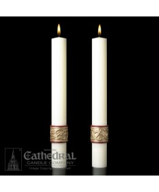 Sculptwax Sacred Heart Paschal Complementing Altar Candles