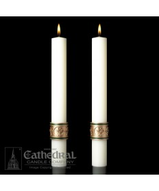 Sculptwax Cross of St Francis Paschal Complementing Altar Candles