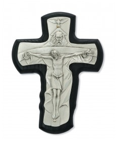 "5.5""Black Wood Trinity Crucifix"