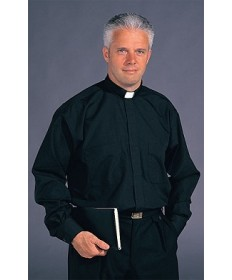 Clergy Shirt Stadelmaier by Slabbinck - Black Extra Long Sleeve