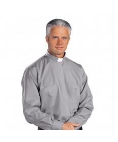 Clergy Shirt Stadelmaier by Slabbinck - Grey Extra Long Sleeve