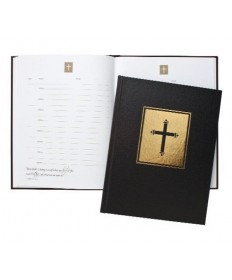 Guest Book Black Leatherette