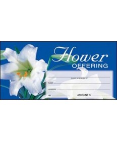 Easter Flower Offering Envelopes - Blue
