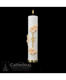 Holy Matrimony Unity Candle - Gold / Cream
