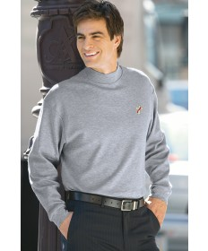 Deacon Long Sleeve Mock Turtleneck - Grey