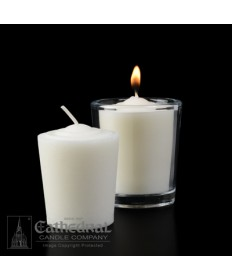 15 Hour Tapered 51% Beeswax Votive Candles