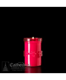 3 Day Candles in Unbreakable Ruby Plastic Containers