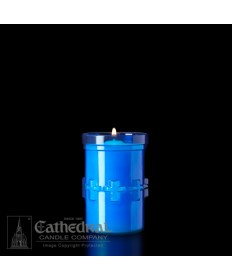 3 Day Candles in Unbreakable Plastic Containers - Blue