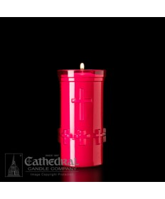 5 Day Candles in Unbreakable Ruby Plastic Containers