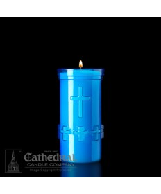 5 Day Candles in Unbreakable Blue Plastic Containers