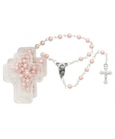 4 mm Imitation Pearl Rosary - Pink