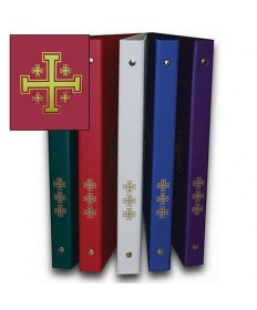 Ceremonial Binder - Red with Gold Jerusalem Cross