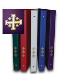 Ceremonial Binder - Purple with Gold Jerusalem Cross