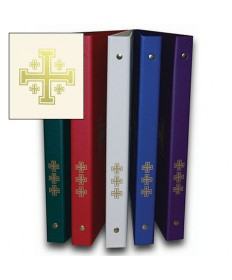 Ceremonial Binder - White with Gold Jerusalem Cross