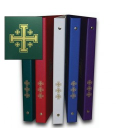 Ceremonial Binder - Green with Gold Jerusalem Cross