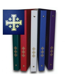 Ceremonial Binder - Blue with Gold Jerusalem Cross