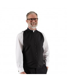 Roman Shirtfront with Button Front (Poly/Wool)