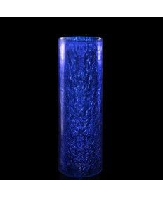 Crackle Globe Cylinder for Sanctuary Candles - Blue